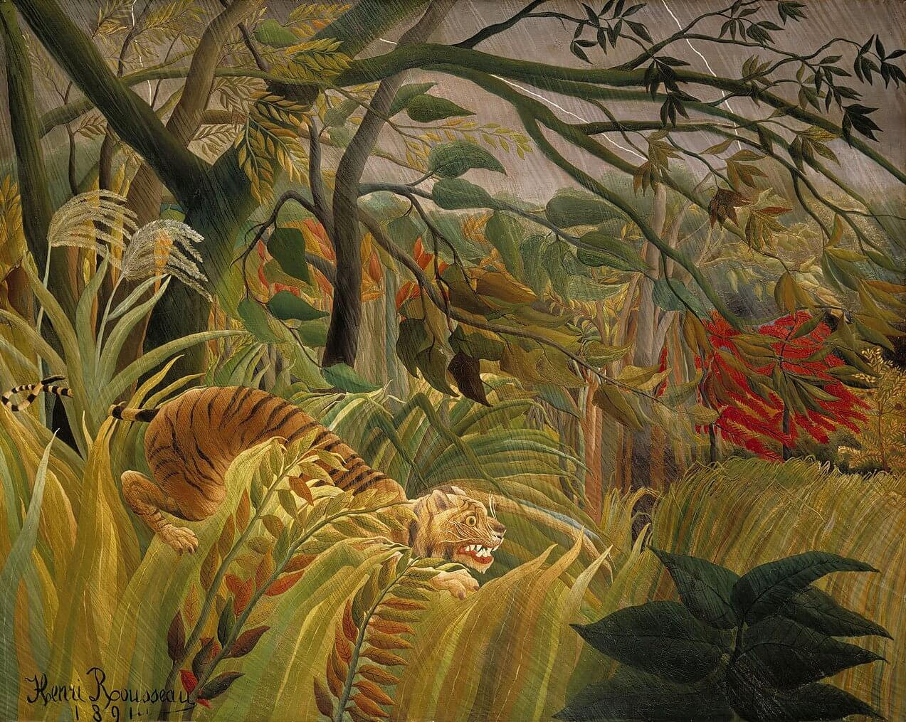 Image result for henri rousseau tigers