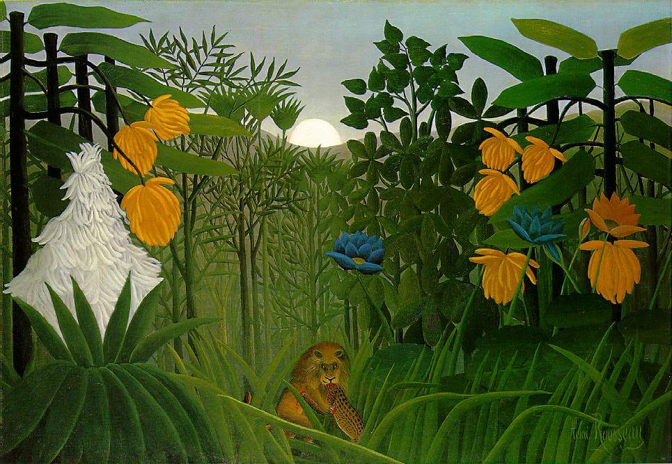 The Repast of the Lion, 1907 by Henri Rousseau